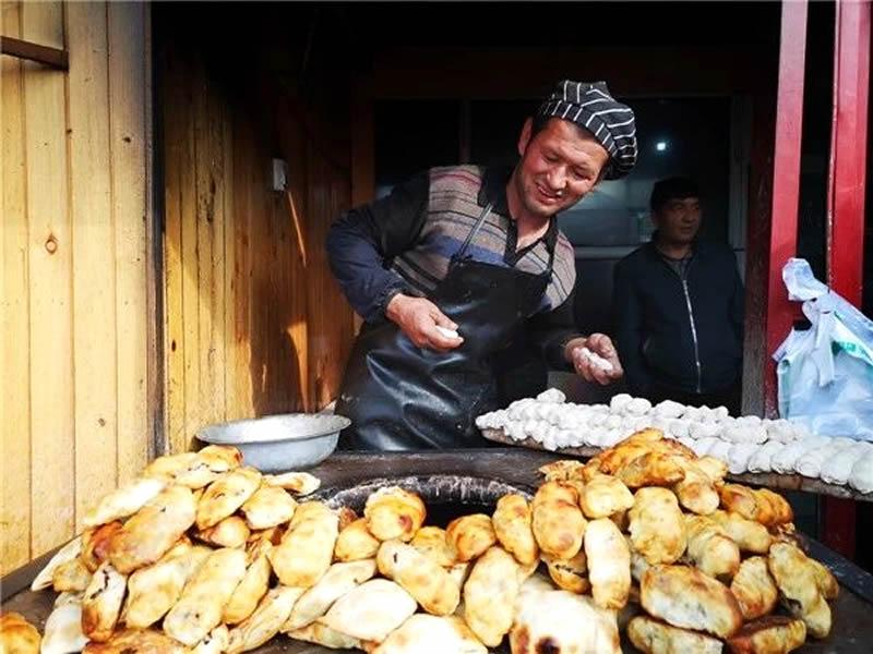 北大营烤包子店