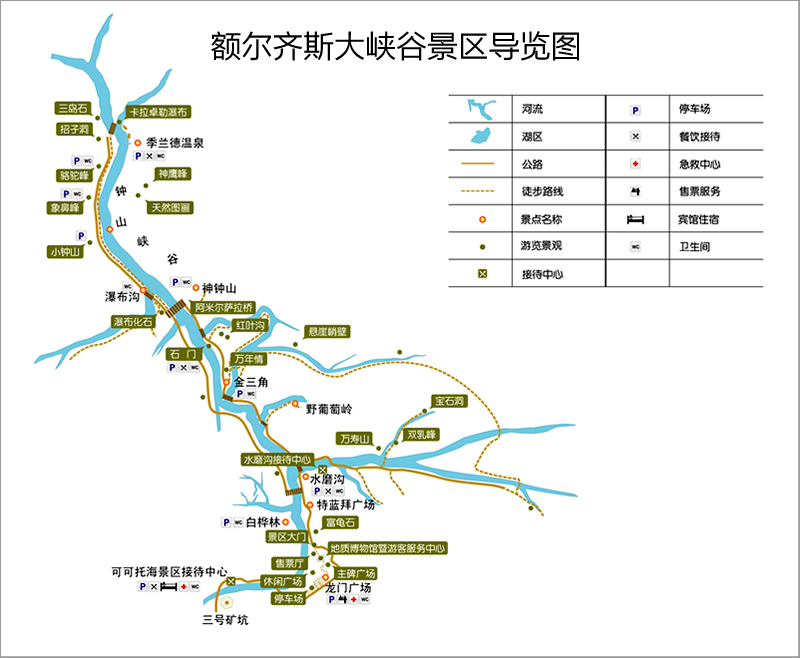 额尔齐斯大峡谷景区导览图