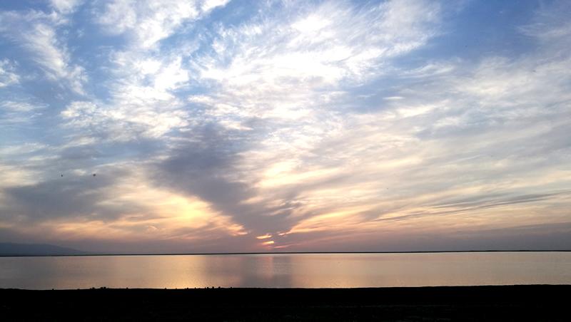 青海湖日落