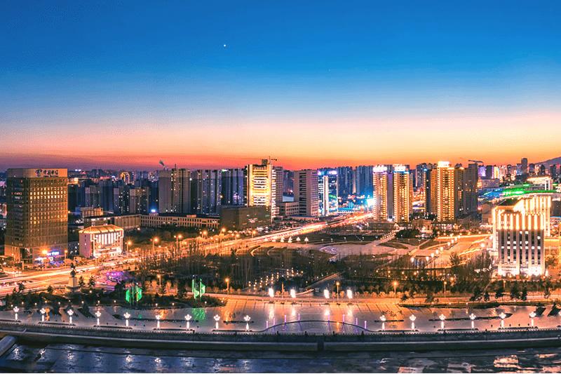 呼和浩特市夜景
