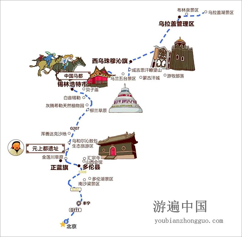 锡林郭勒盟游玩线路最美s308